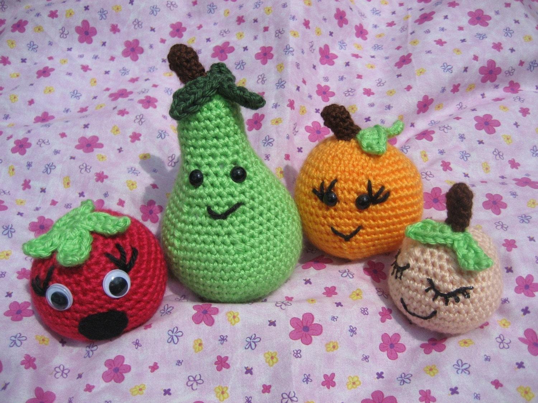 Amigurumi Fruit Crochet Patterns : Amigurumi Fruit Crochet Pattern