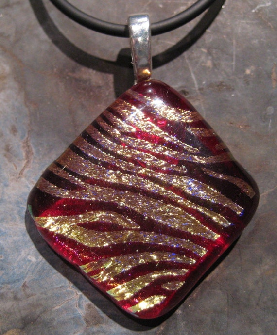 SALE    Where The Wild Things Are fused glass pendant