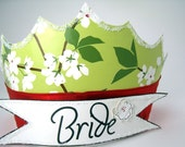 Blossom Bride ... Paper Crown ... SALE