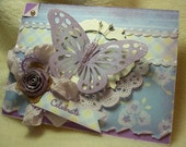 Very Elegant Butterfly Garden Handcrafted Vintage Inspired Celebrate Greeting Card