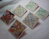 Mini Note Cards...6 Piece Set of Very Pretty Autumn Harvest Mini Note Cards