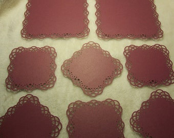 8 Piece Set of Very Elegant Swirling Lace Border Scrapbook Photo Mats