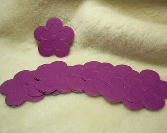 Scrapbook Flowers...18 Piece Set of Very Beautiful Cherry Blossom Embossed Scrapbook Paper Flower Embellishments