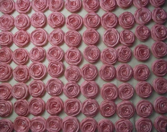 Wedding Paper Flowers...200 Piece Set of Custom Made Very Beautiful Shabby Chic Scrapbook Paper Flower Rolled Roses