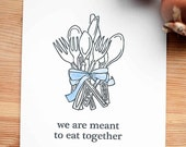 Letterpress poster: we are meant to eat together (letterpress print)