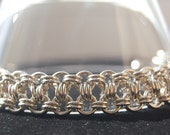 Ice Ice Baby Sterling Silver Chainmaille Bracelet