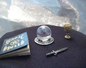 dollhouse miniature Celtic crystal ball for Wizard or Witch fantasy 1:12 scale