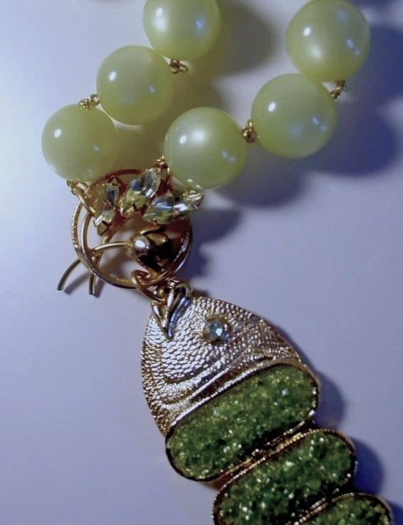 Compost Couture modernist jeweled revival neckpiece ooak