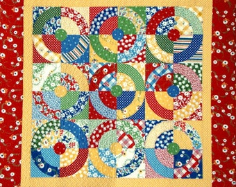 Square Dance Quilt Pattern - EASY No Curved Piecing - PDF Format