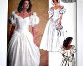 Vintage  Bridal Dress Pattern 6518 Size 12-14-16