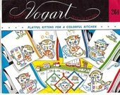Vintage Vogart Hand Embroidery Pattern Download Kittens Kitchen