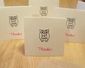 Mini Owl Thank You Notes - set of 6
