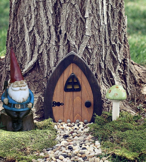 Gnome doors fairy doors faerie doors elf doors 9 by for Outdoor fairy door
