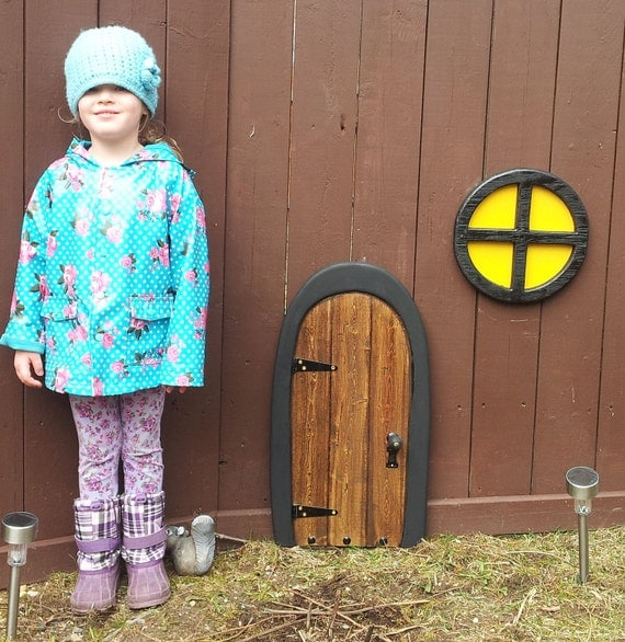 Items similar to large fairy door gnome door tree door for Large gnome doors