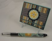 Bold in Gold - post it note holder gift set with matching beaded pen