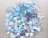 35 Piece Blue Acrylic Charm Mixed Lot
