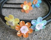 Flower Bobby Pins and Bracelets - 5 piece set