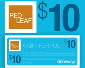 Last Minute Gift Certificate From Red Leaf, Bridesmaid Gift, Gift For Best Friend