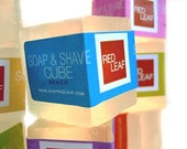 Vegan Shave Soap Cubes, Shaving Soap For Sensitive Skin Available In Unscented
