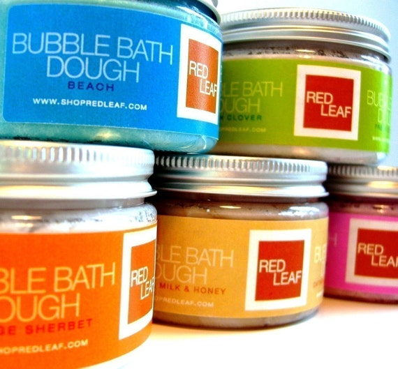 Bubble Bath Dough Birthday/Shower Gift From Red Leaf