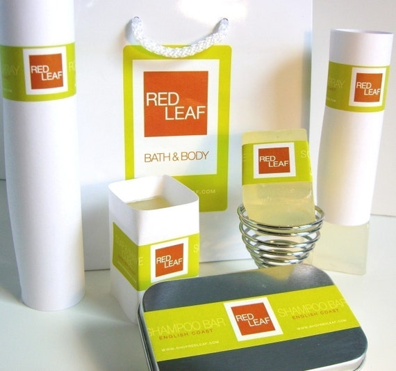 Womens Gift Set With Lotion, Soap, Shampoo, and Linen Spray From Red Leaf.