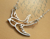 Sterling Sparrow Necklace