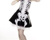 SKELETON bones DRESS PVC halloween