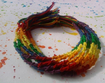 Rainbow Friendship Bracelets (includes 10)
