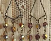 Victorian Amethyst Vitrail Chandelier Earrings