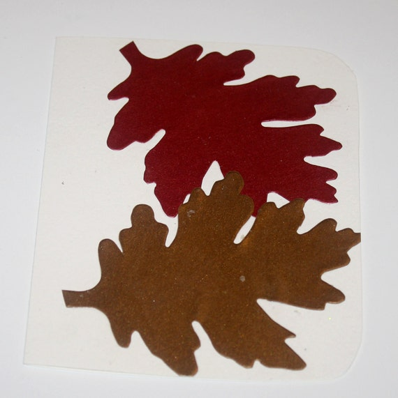 Rounded Autumn Leaves Greeting Card
