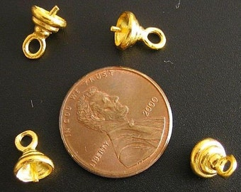 The Swan Vermeil Bead Cap For TOP DRILLED Beads b33v