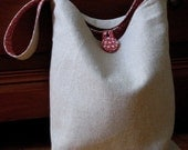 Natural Linen Shoulder Bag.