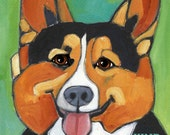 Corgi No. 1 - magnets, coasters and art prints