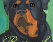 Rottweiler No. 1 - set of 6 blank notecards and coordinating envelopes in clear sleeve