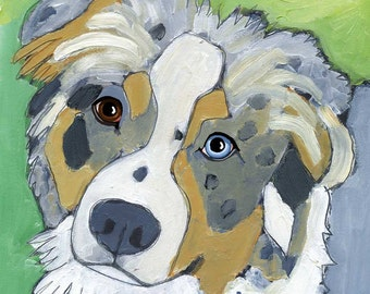 Australian Shepherd No. 1 - magnets, coasters and art prints in four sizes