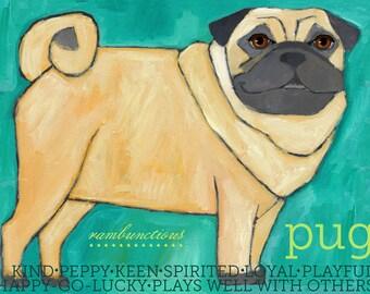Pug No. 1 - magnets, coasters and art prints