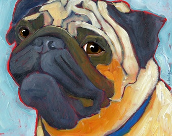 Pug No. 2 - magnets, coasters and art prints