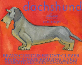 Dachshund No. 2 - magnets, coasters and art prints