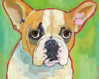 French Bulldog No. 1 - magnets, coasters and art prints, blonde, buff