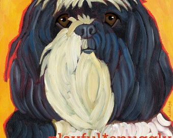 "Havanese No. 1- 2x3"" magnet from original oil painting"