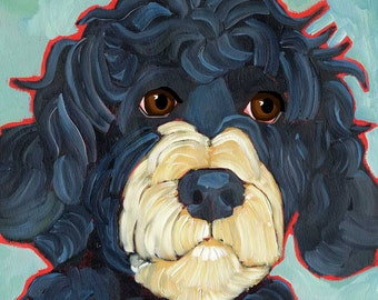Portuguese Water Dog No. 1 - magnets, coasters, prints, notecards