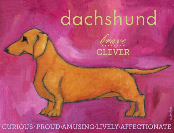 Dachshund No. 1 - Red Smooth Coated - Set of 6 Cards and Envelopes in clear sleeve