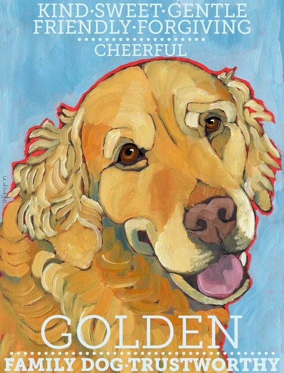 Golden Retriever No. 1 - Set of 6 Blank Cards with Envelopes in Clear sleeve