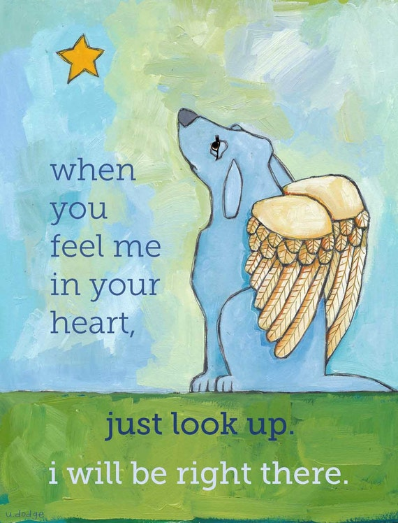 Dog Sympathy  No. 3 - magnets, coasters, cards and art prints in four sizes