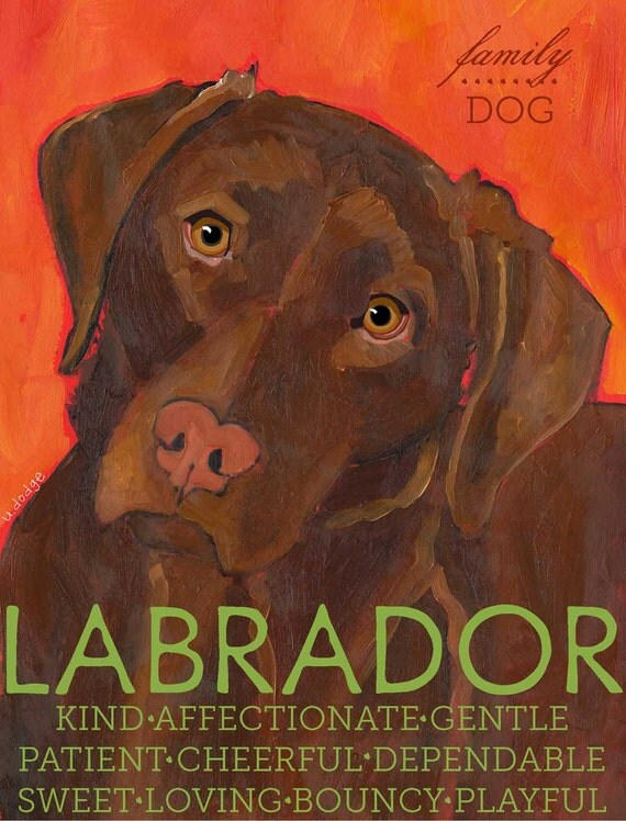 "Labrador No. 2 - Chocolate lab 2x3"" magnet from original oil painting"