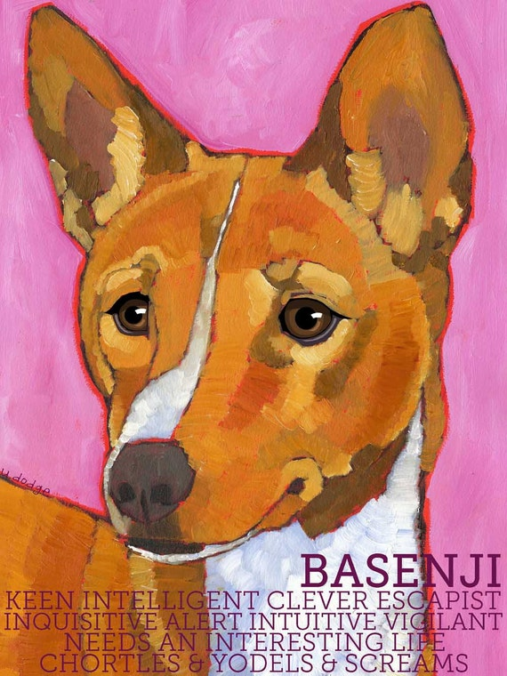 Basenji No. 1 - magnets, coasters and art prints in four sizes