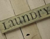 SHABBY COTTAGE CHIC laundry sign / laundry room decor