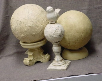 FABULOUS FRUGAL FINIALS / Make your own  decorative finials  / how to make finials / turn thrift store finds into finials / hand made finial