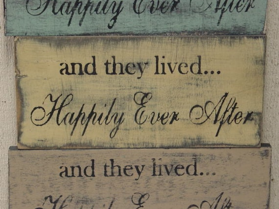 HAPPILY EVER AFTER sign / wedding gift / And they lived happily ever after