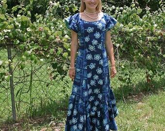 VINTAGE HAWAIIAN FISHTAIL DRESS